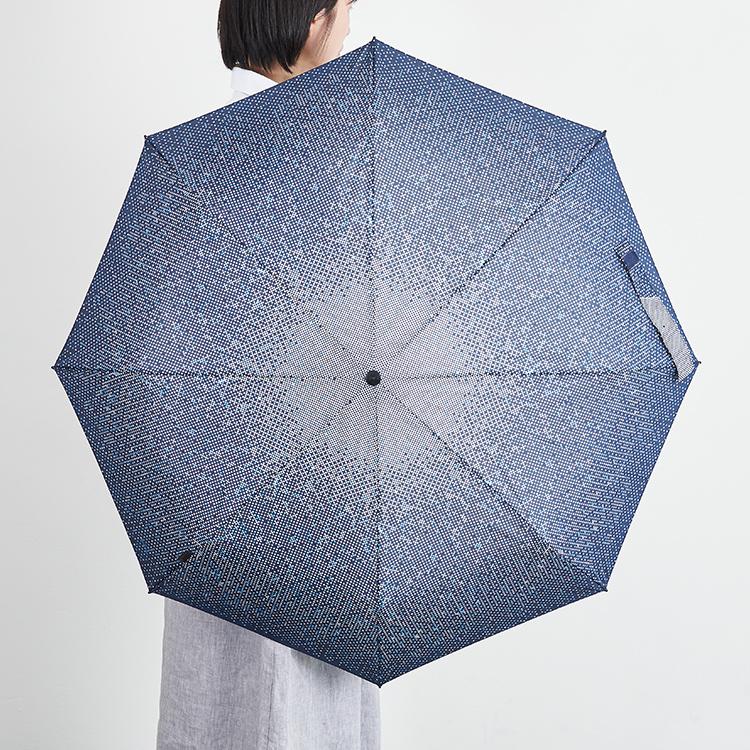 くにるぷす ぬの しぶき   くにるぷす 折り畳み すどうれいこ あお ブルー  みず 日傘 紫外線カット