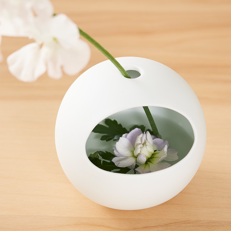 花瓶 一輪挿し とうき 洗いやすい まる かびん