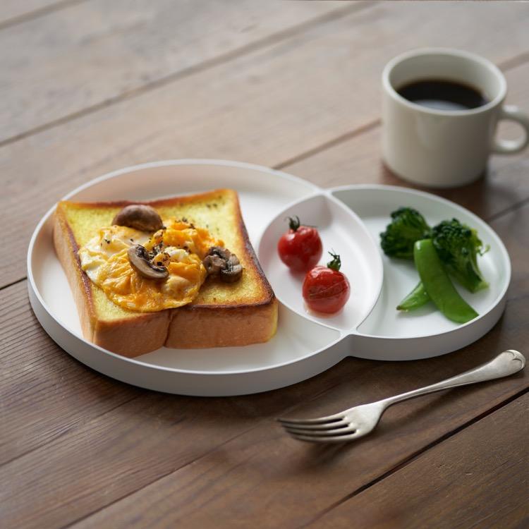 もーにんぐぷれーと お皿 ぷれーと あうとどあ きゃんぷ 朝食 パン まざらない
