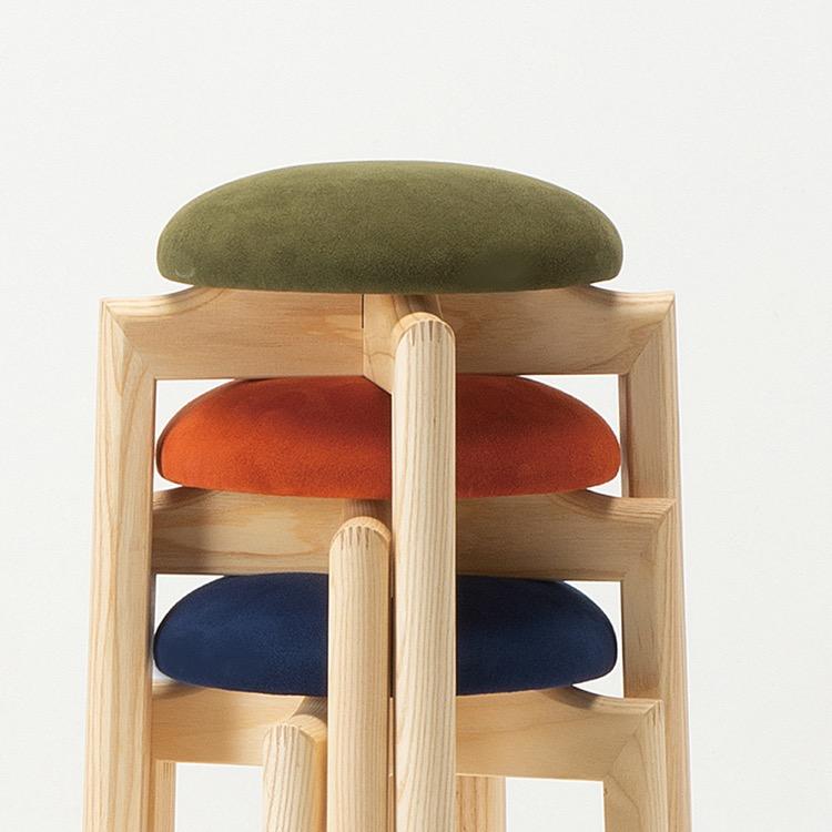 スツール 椅子 マッシュルーム 日本製 匠工芸 コンパクト スリム デザイン 使いやすい インテリア 職人 アッシュ