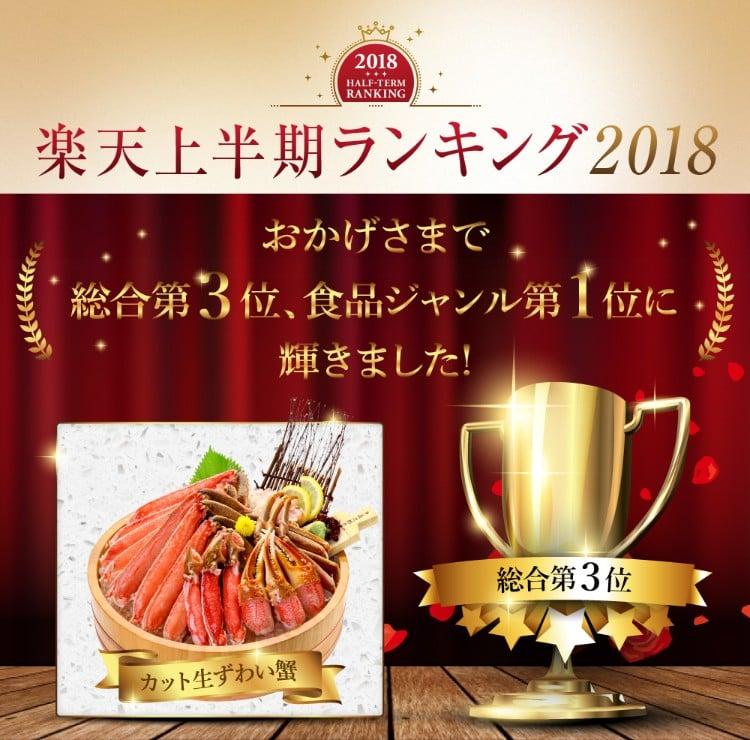 楽天上半期ランキング2018総合3位食品ジャンル1位