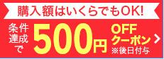 条件達成で500円オフクーポン