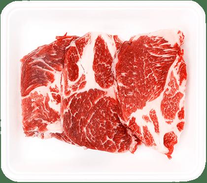 イベリコ豚の厚切り肩ロースステーキ