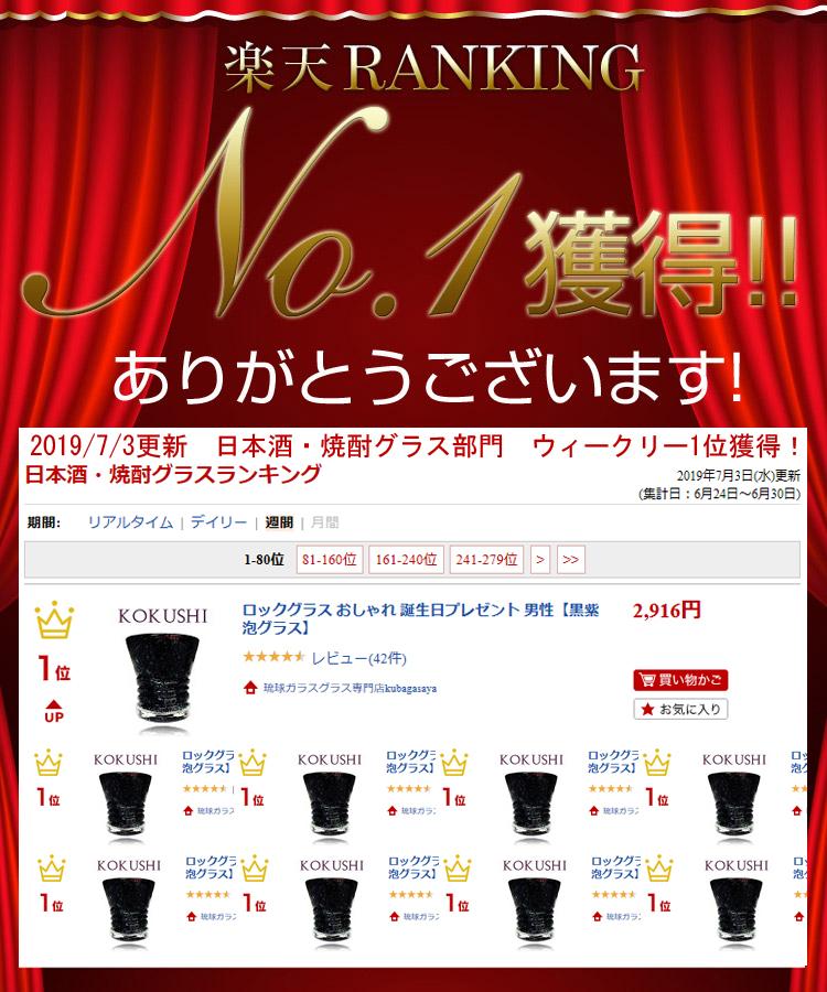 日本酒・焼酎グラス部門ウィークリー1位獲得!