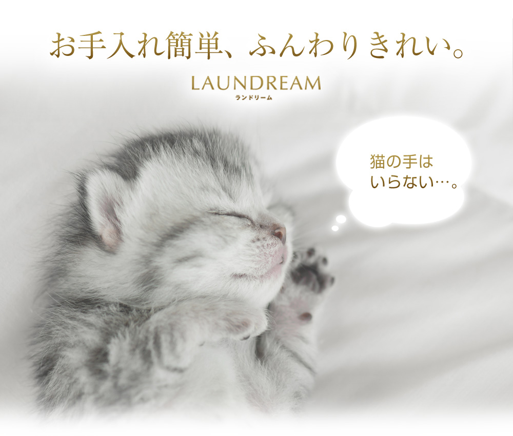LAUNDREAM ランドリームはお手入れ簡単