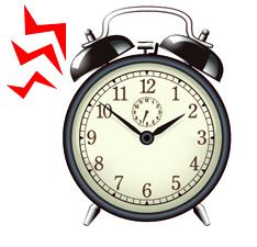 目覚まし時計がうるさい