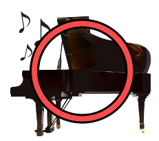 ピアノの音が気になる