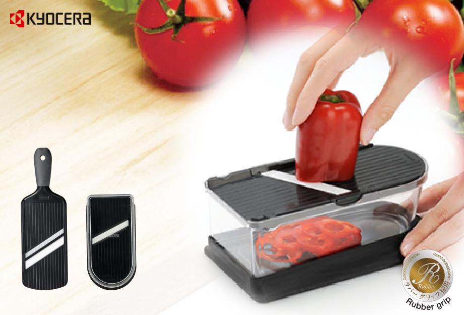 セラミック刃だから刃の摩耗が少なく、シャープな切れ味でお使いいただけます。