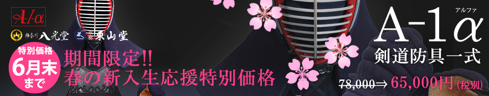 新入生応援特別価格A-1α剣道防具セット