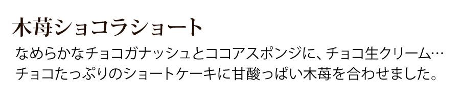 木苺ショコラショートケーキ