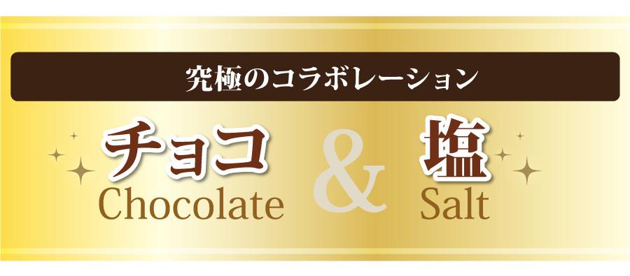 チョコ&塩の究極のコラボレーション