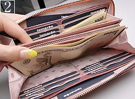 2番:ファスナー長財布の詳細写真