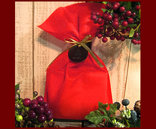 Photograph of the giftwrapping