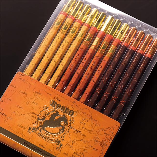 名入れ無料 鉛筆 Lirico 三菱鉛筆 コラボ ロマンティック ロデオえんぴつ 2B 男の子でも女の子