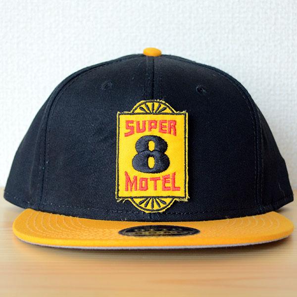 帽子/ベースボールキャップ オットー Otto 無地(イエローゴールド×ブラック/黒) ワッペンカスタム例