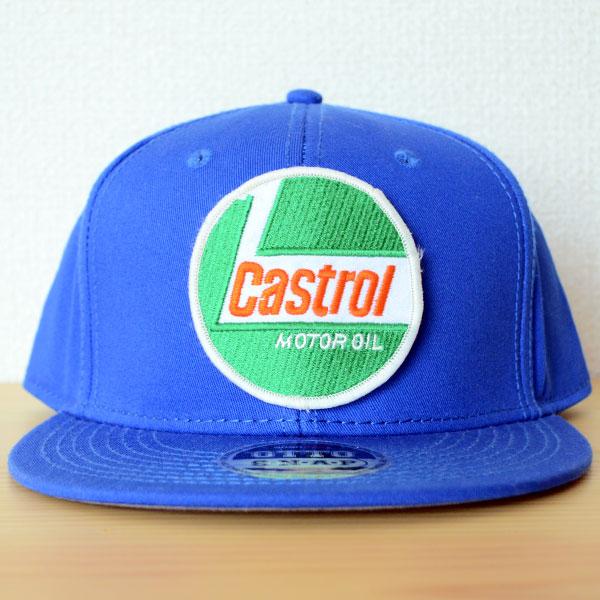 帽子/ベースボールキャップ オットー Otto 無地(ブルー/青) ワッペンカスタム例
