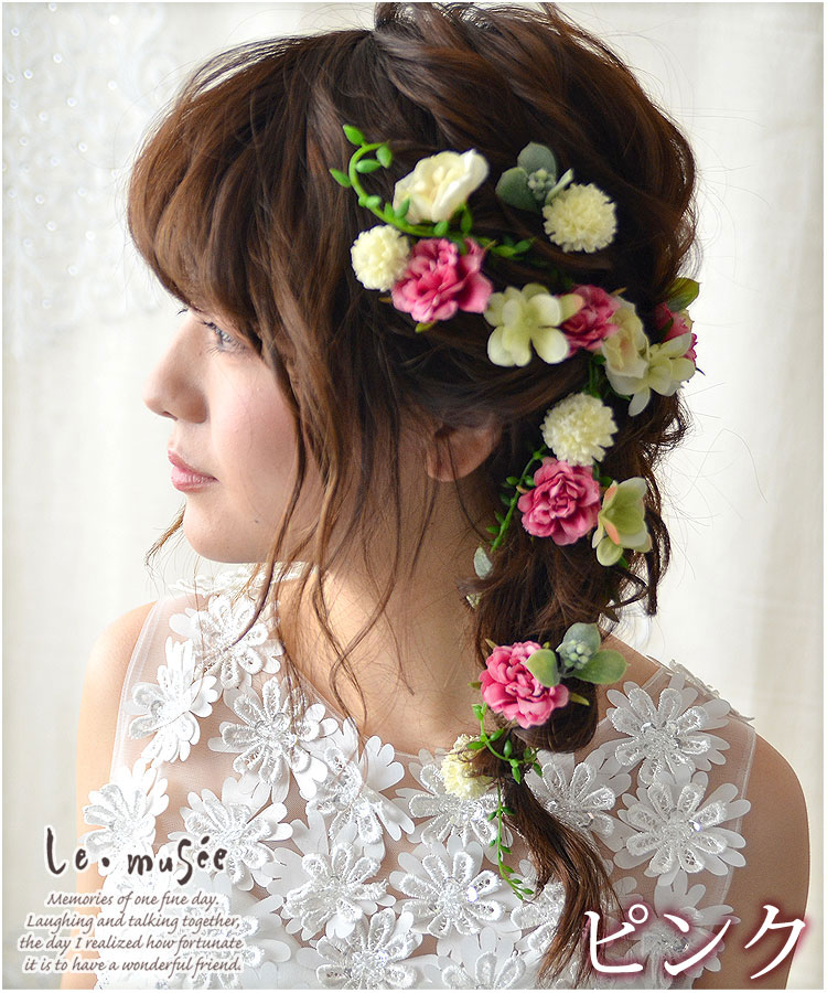 ヘッドドレス(髪飾り)【シルクフラワー】 フルールガーデン