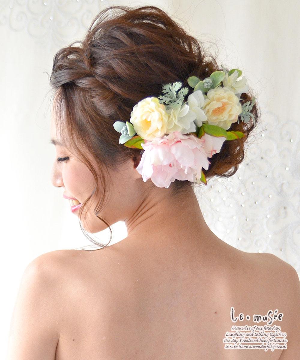 ヘッドドレス(髪飾り)【シルクフラワー】ディマンシュピオニー