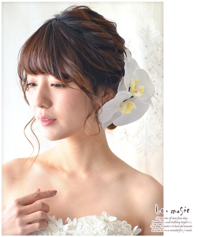 【ヘッドドレス(髪飾り)】グラン胡蝶蘭 5りん
