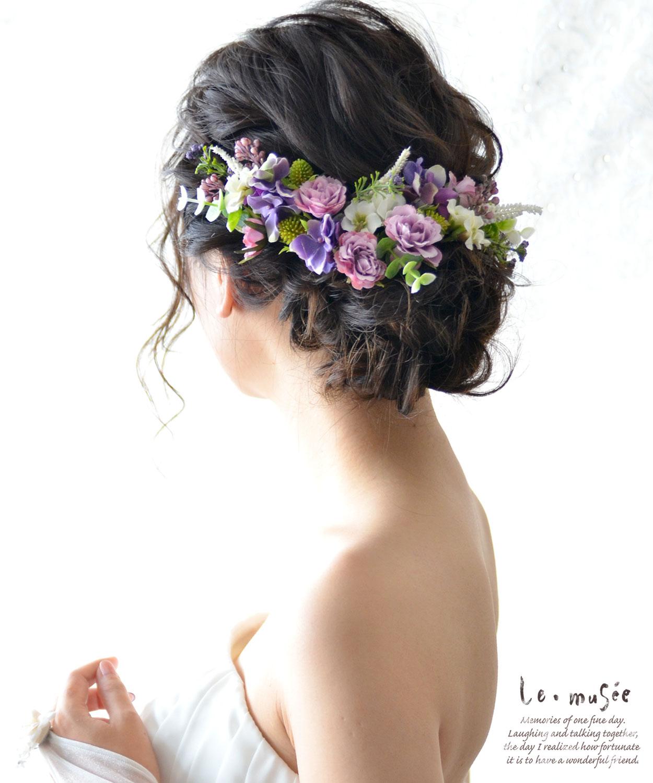 ヘッドドレス 花 ウェディング イオニア・ブーケ