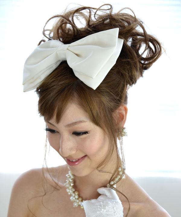 ヘッドドレス(髪飾り)【ボンネ】リボン マリアージュ