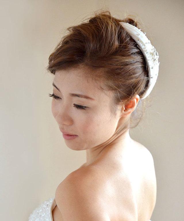 ヘッドドレス(髪飾り)【ボンネ】 アーデル
