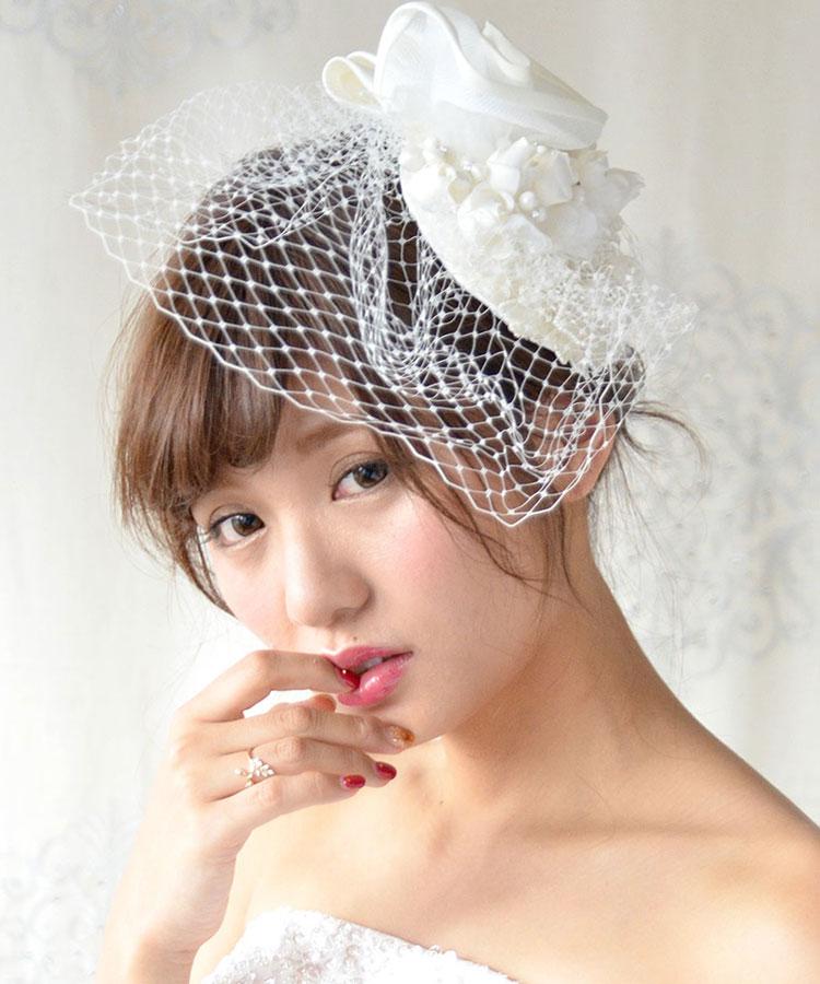 ヘッドドレス(髪飾り)【ウェディングハット】 ジョジア