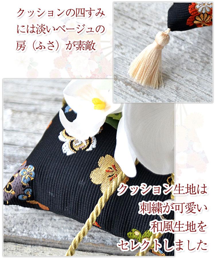 リングピロー 完成品 和風リングピロー 胡蝶蘭 金