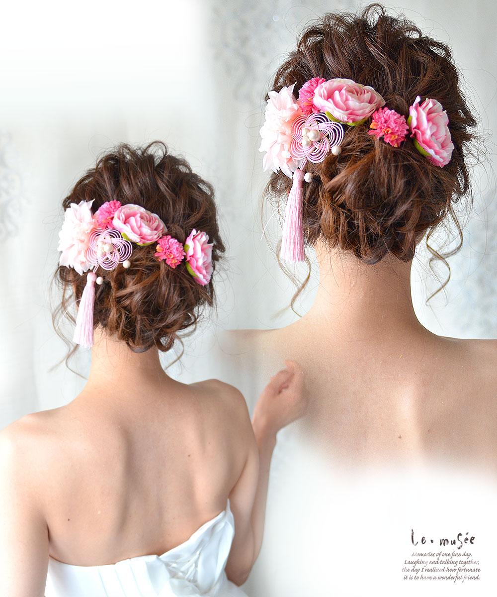 袴 卒業式 髪飾り 桃房