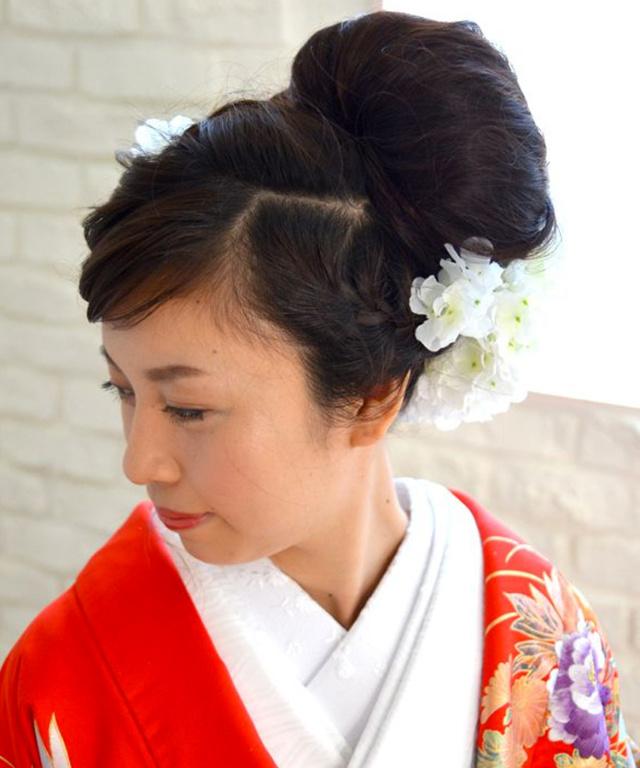 和装髪飾り【花】<紫陽花>フラウ