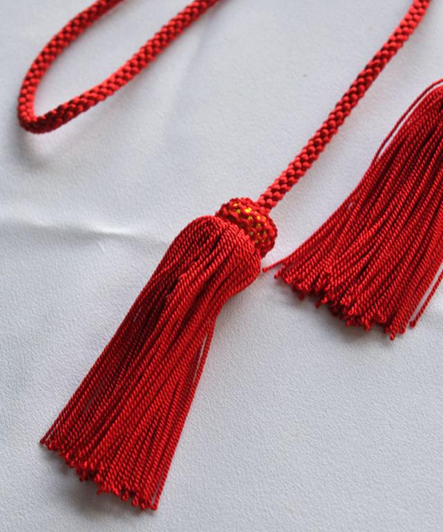 成人式・和装用髪飾り【和小物】飾り房(ふさ)タッセル 赤
