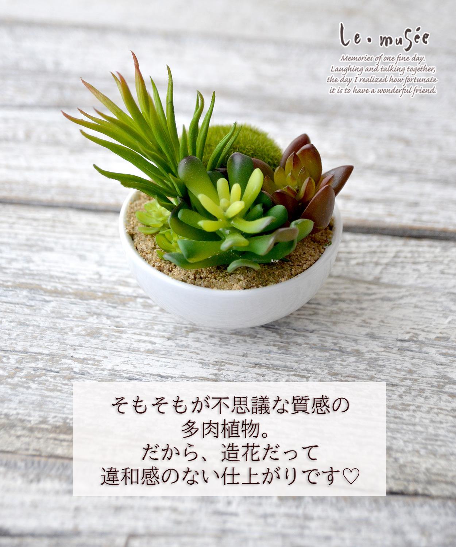 インテリアグリーン 多肉植物 ミニボール フェイク グリーン 造花