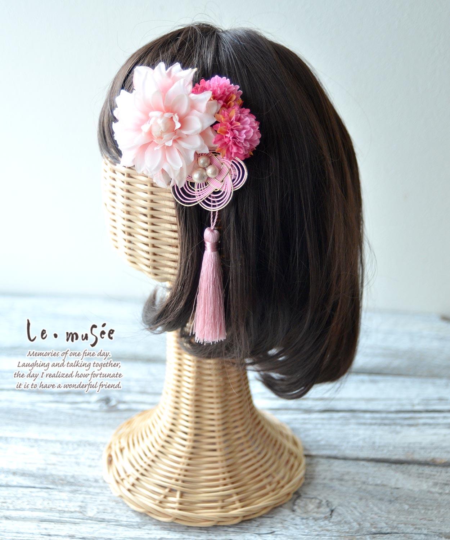 七五三髪飾り ピンク飾り