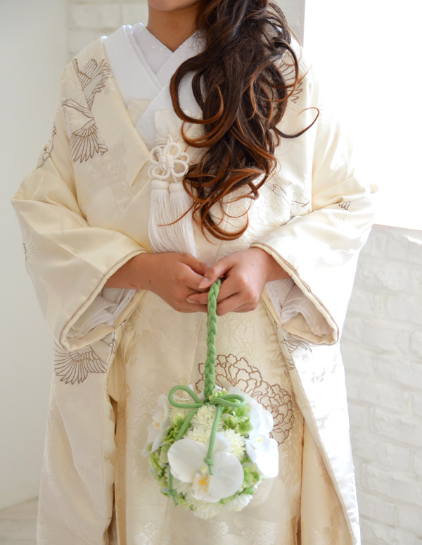 髪飾り【花】胡蝶蘭・翠(こちょうらん・みどり)