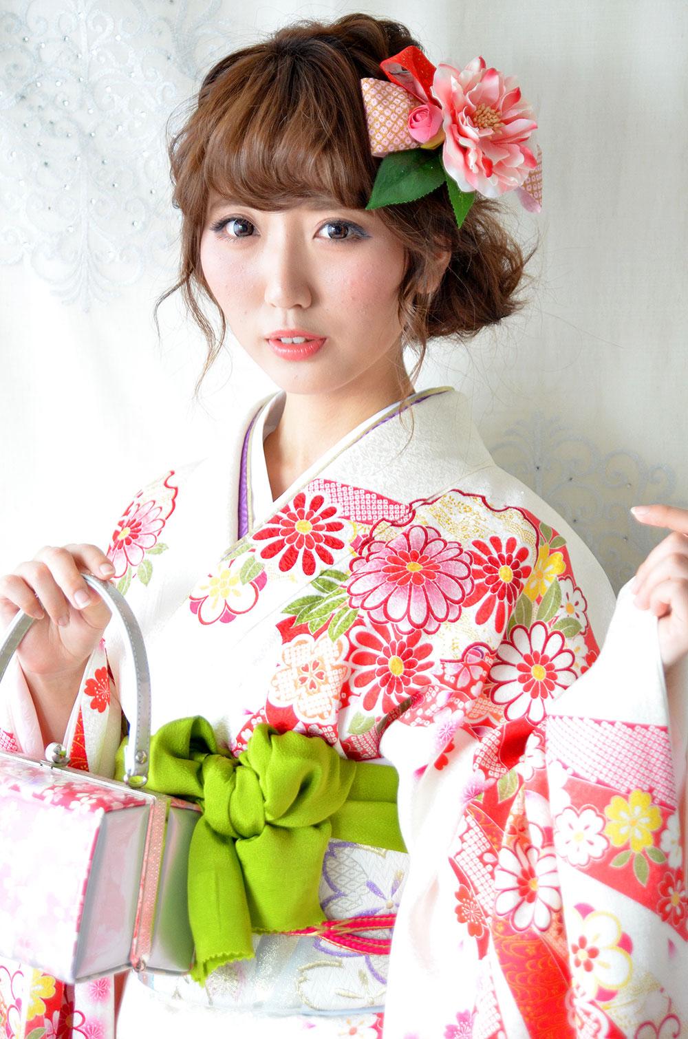 ヘッドドレス成人式 髪飾り【姫椿 ひめつばき】小春シリーズ