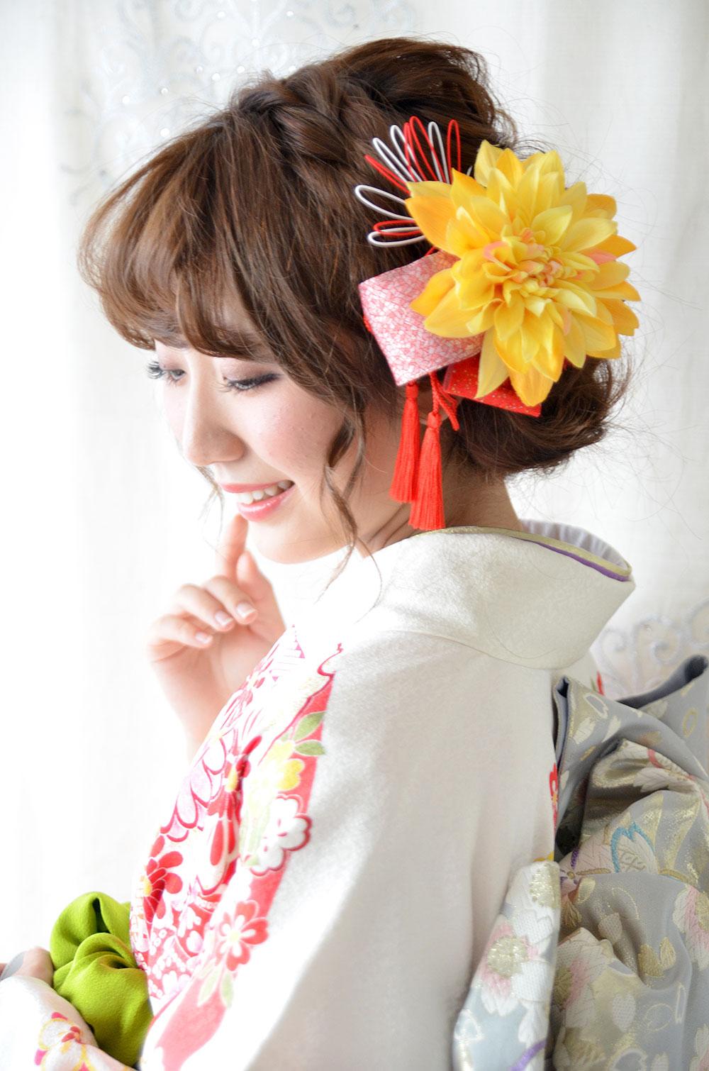 ヘッドドレス成人式 髪飾り【柚月 ゆずき】小春シリーズ