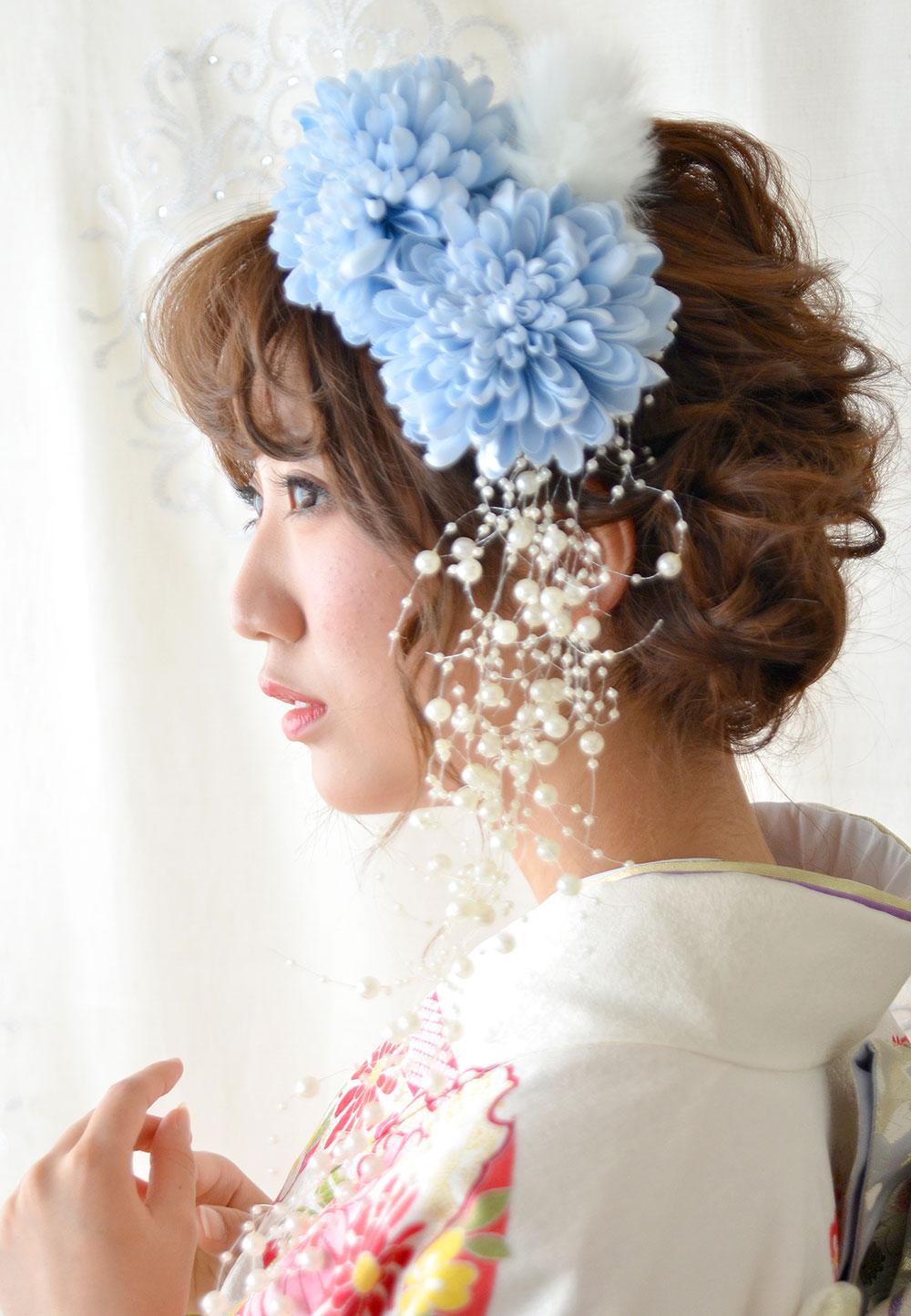 ヘッドドレス成人式 髪飾り【小雪 こゆき】小春シリーズ
