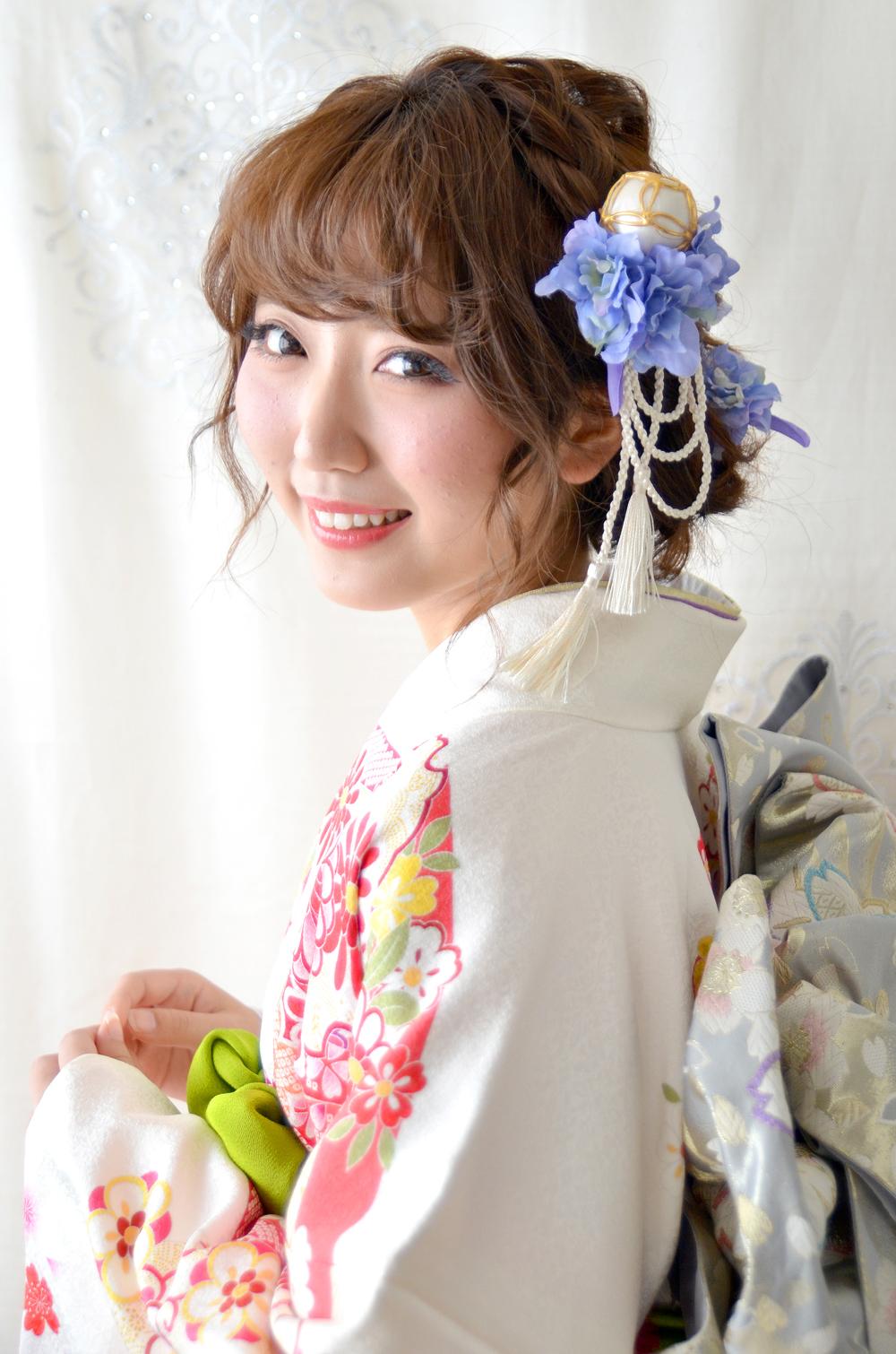 ヘッドドレス成人式 髪飾り【葵 あおい】小春シリーズ