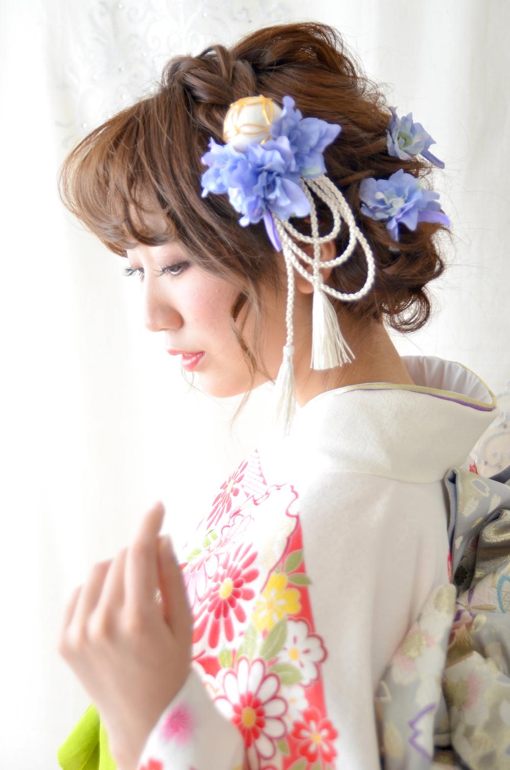 成人式 髪飾り【葵 あおい】小春シリーズ