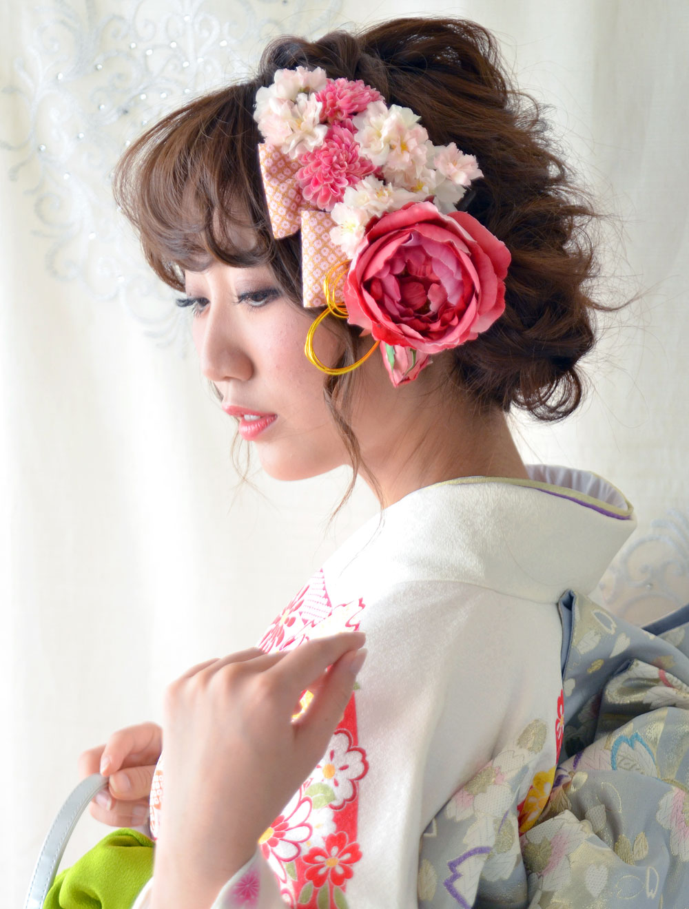 ヘッドドレス成人式 髪飾り【弥生 やよい】小春シリーズ