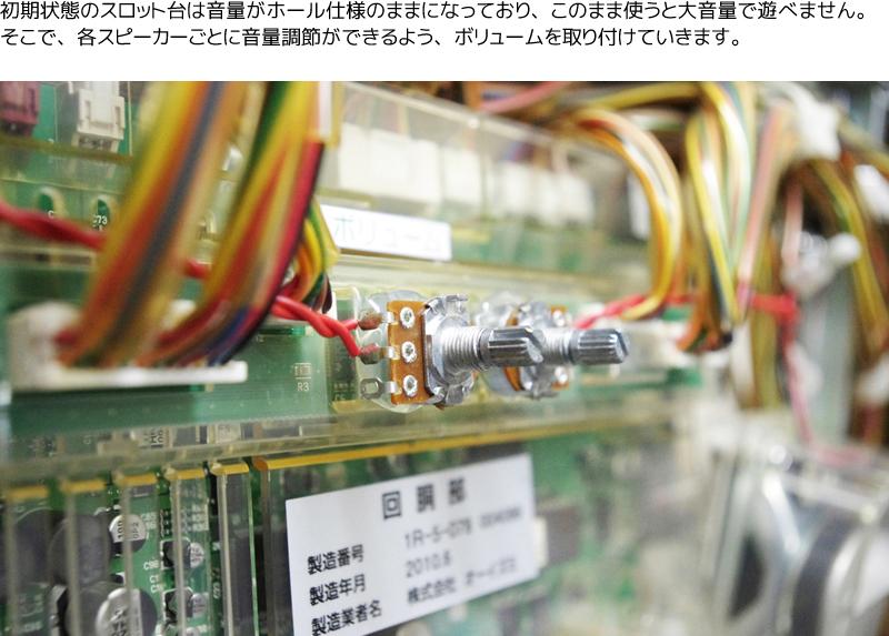 ボリューム/音量調整ボリュームの設置