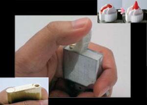 オイルライターのオイル注入手順2