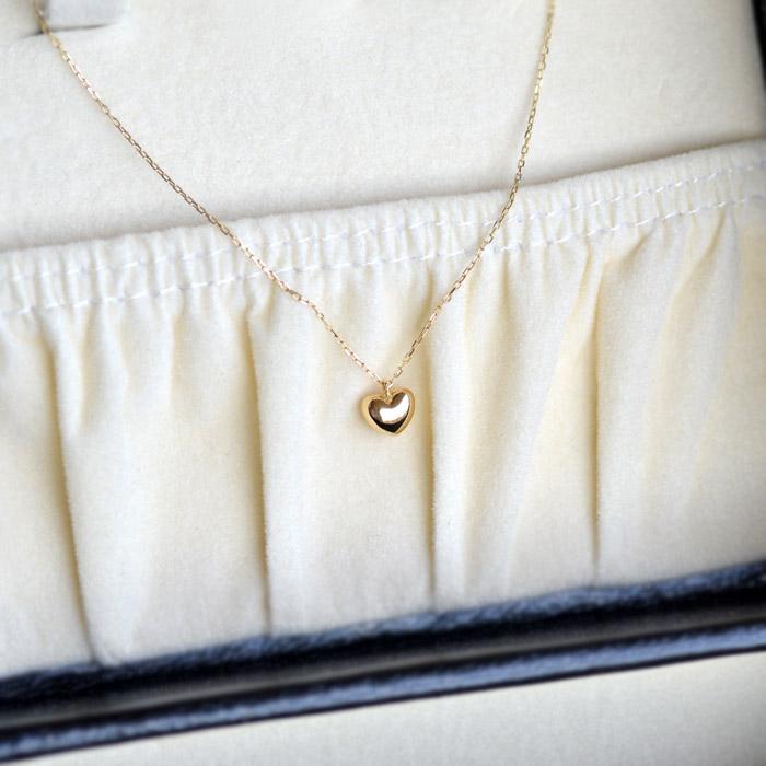 日本製 ハート ネックレス ハート ペンダント レディース スキンジュエリー ジュエリー 女性用 ギフト 高品質 ファーストジュエリー スキンジュエリー 誕生日 ネックレス 18金 K18 18k メール便OK モモダイヤ
