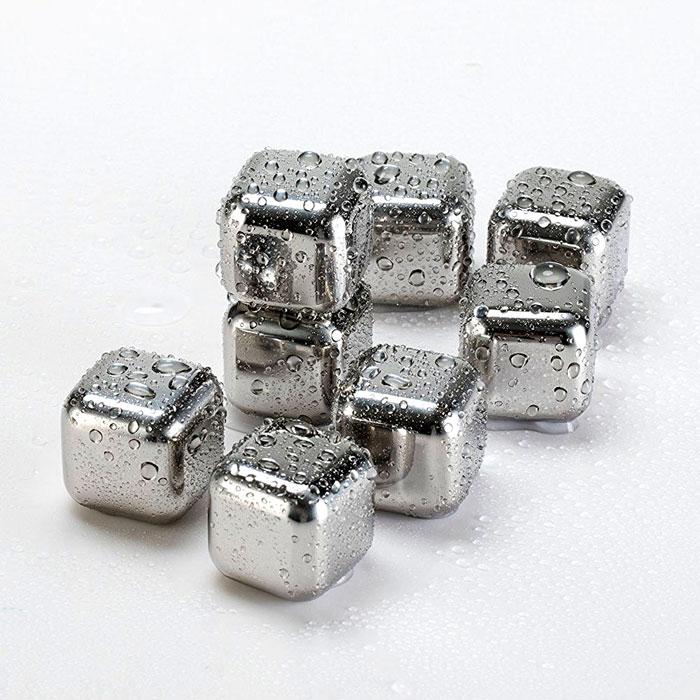 溶けない氷 8個入 アイス ステンレス氷 繰り返し使える ステンレス製 キューブ アイスキューブ 送料無料