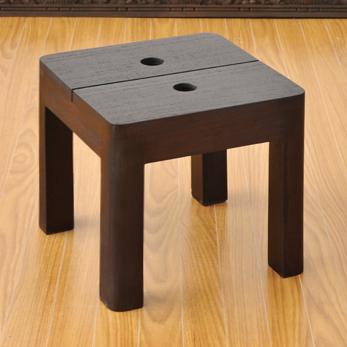 アジアンシンプルなチーク材スツール【teak-stool】