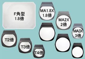 ビッグアイシリーズ、アームルーペLhシリーズ用レンズのみ別売り品
