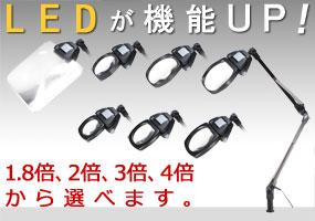 LEDライト付きアームルーペLh7