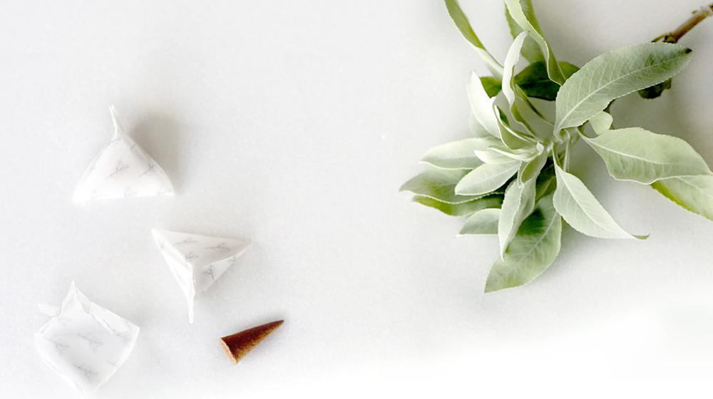 ホワイトセージ お香 [ ヨガ・瞑想用 ] LUCAS ルカス