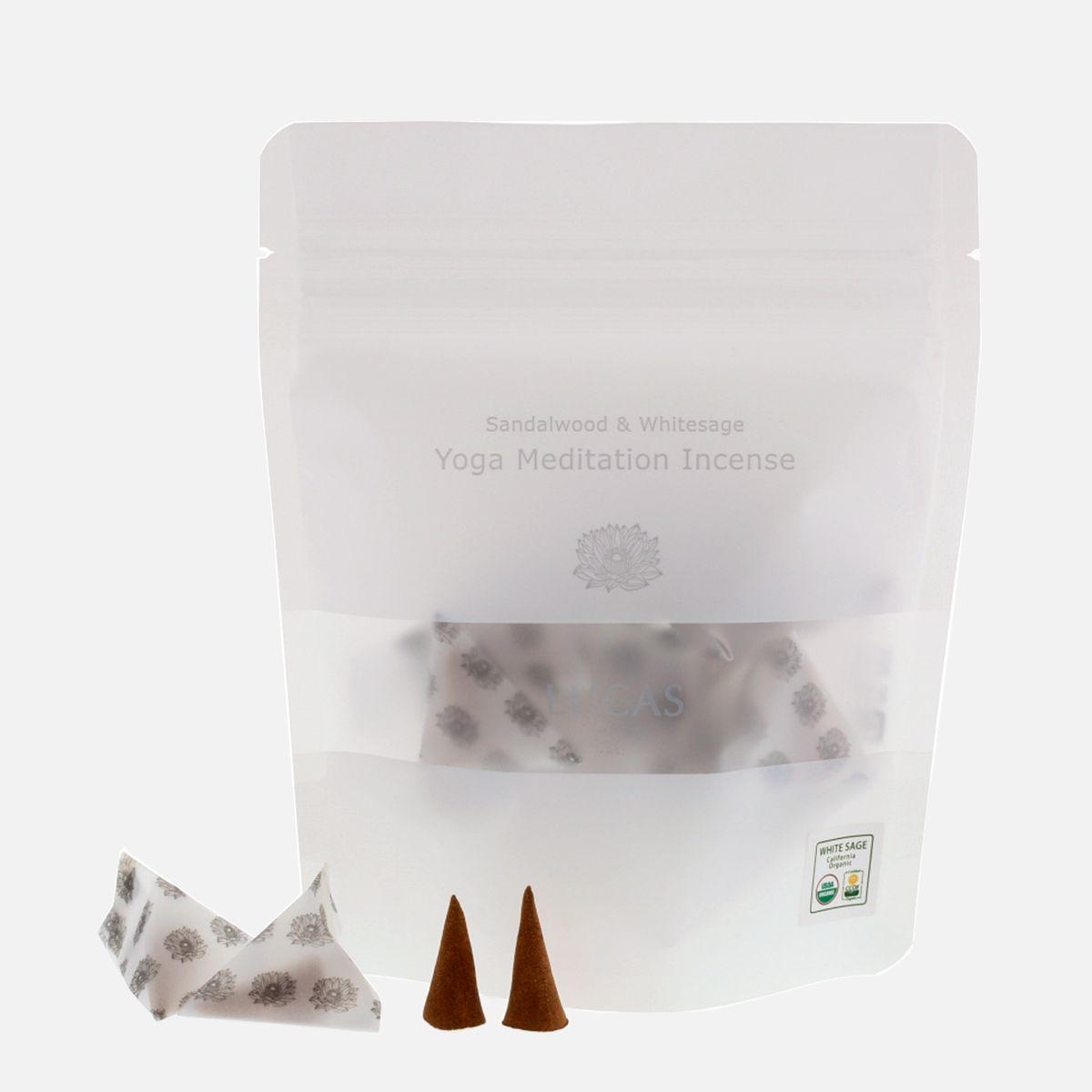 LUCAS サンダルウッド&ホワイトセージ 浄化香 [ 浄化・ヨガ・瞑想用 ]