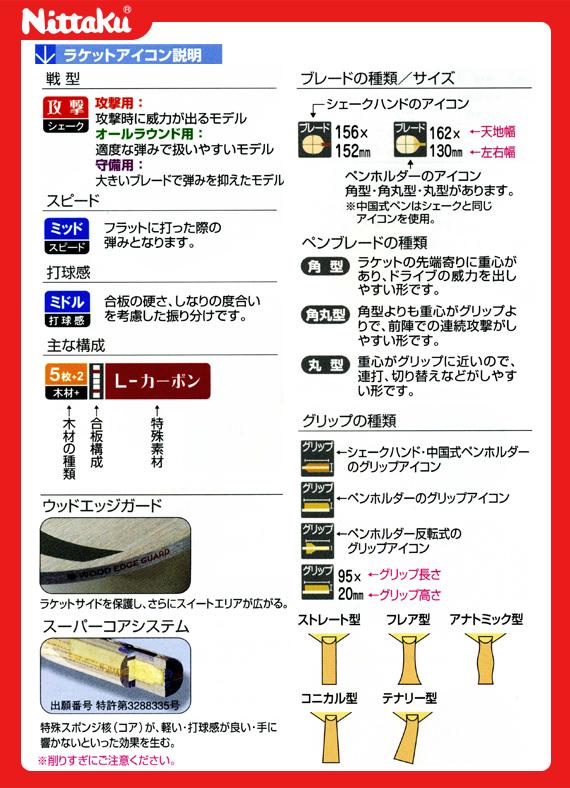 R NC0175 ラージエース 卓球ラケット ニッタク
